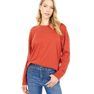 Madewell Burnt Orange Thick Textured Cotton Top
